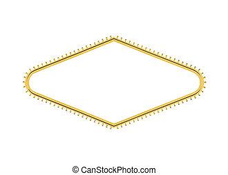 gyémánt, fény, kellemes cégtábla, elvág, vegas, gumó, las,...