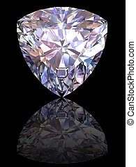 gyémánt, fekete, sima, háttér