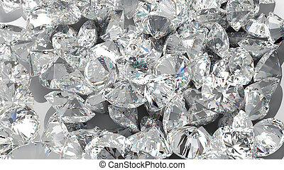 gyémánt, háttér., nagy csoport, közül, ékkövek