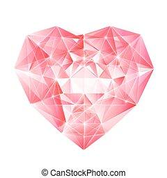gyémánt, szív, helyett, -e, design.