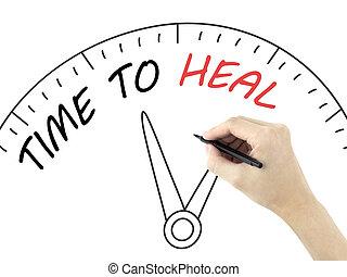 gyógyít, idő, írott, kéz, bábu