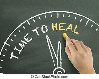 gyógyít, idő, írott, kéz