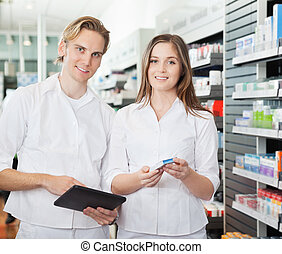gyógyszerész, noha, digital tabletta
