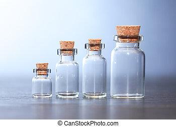 gyógyszerészeti, üvegcse, állhatatos