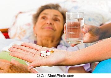 gyógyszer, öregedő