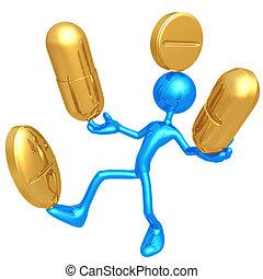 gyógyszer, kiegyensúlyozott