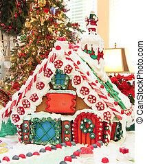 gyömbéres mézeskalács, karácsony, épület