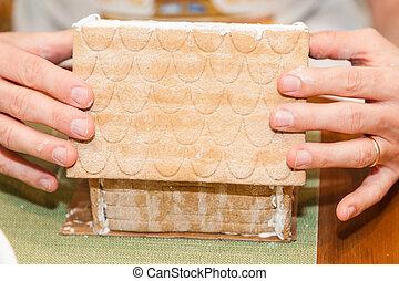 gyömbéres mézeskalács, műhely, épület