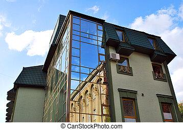 gyönyörű, épület, modern
