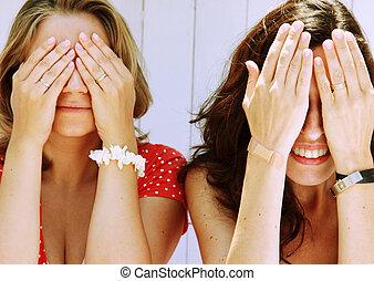 gyönyörű, 2 women
