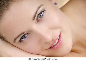 gyönyörű arc, nő
