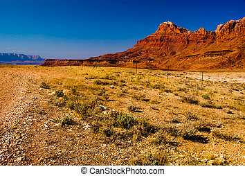 gyönyörű, arizona, táj