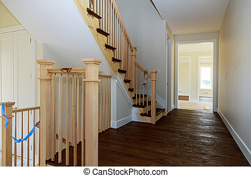 gyönyörű, bepiszkítás, lépcsőház, bepiszkol, fényűzés, új családi