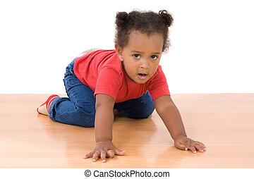 gyönyörű csecsemő, imádnivaló, afrikai