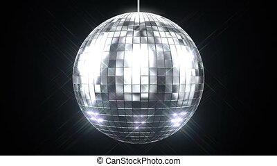 gyönyörű, disco labda, fonás