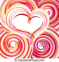 gyönyörű, elvont, szív, háttér