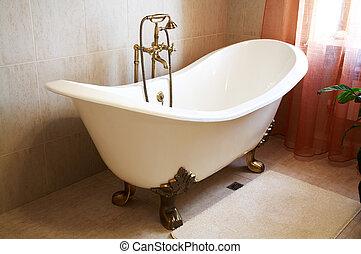 gyönyörű, fürdőkád