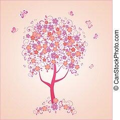 gyönyörű, fa
