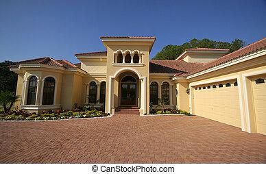 gyönyörű, florida, otthon