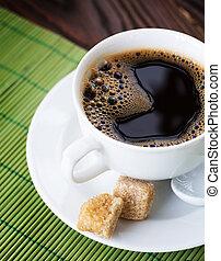 gyönyörű, forró kávé