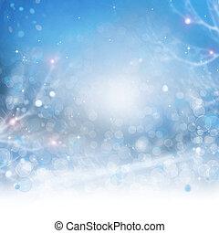 gyönyörű, háttér., elvont, bokeh, tél