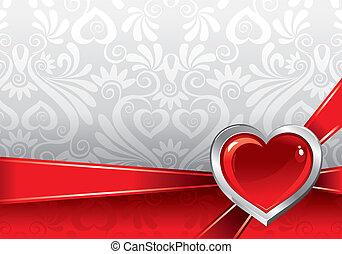 gyönyörű, háttér, képben látható, valentin nap