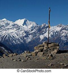 gyönyörű, hó kivezetés, hegyek