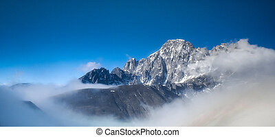 gyönyörű, hólepte, hegyek