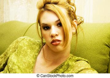 gyönyörű, hispanic woman