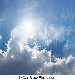 gyönyörű, kék ég