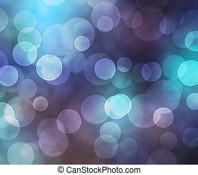 gyönyörű, kék, bokeh, háttér