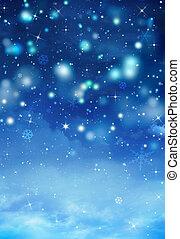 gyönyörű, kék, karácsony, háttér