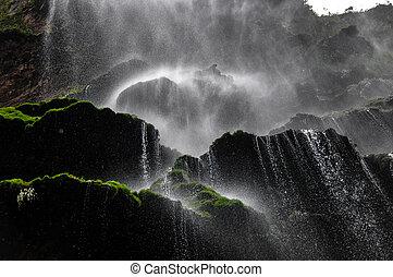 gyönyörű, kanyon, sumidero, vízesés, mexikó