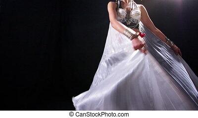 gyönyörű, lövés, kánon, táncos, has, 5d, mk2