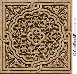 gyönyörű, marokkói, építészet