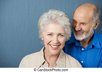 gyönyörű, mosolygós, öregedő woman