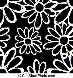 gyönyörű, motívum, seamless, black háttér, monochrom, menstruáció
