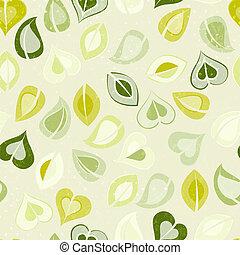 gyönyörű, motívum, zöld, zöld, seamless