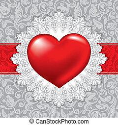 gyönyörű, nap, háttér, valentine's