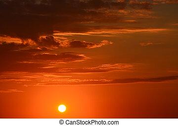 gyönyörű, napnyugta