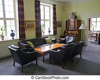 gyönyörű, nappali, klasszikus