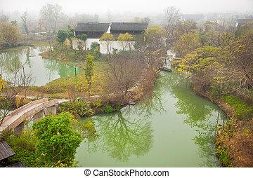 gyönyörű, nemzeti park, láp, scenics, xixi