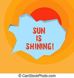 gyönyörű, nyár, természetes, ügy, parkosít., nap, kiállítás, napfény, napok, shining., írás, fogalmi, csípős, kéz, fénykép, showcasing, élvez