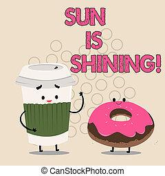 gyönyörű, nyár, természetes, ügy, parkosít., nap, kiállítás, napfény, napok, shining., írás, jegyzet, csípős, fénykép, showcasing, élvez