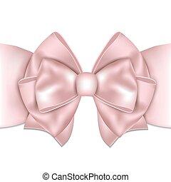 gyönyörű, rózsaszínű, íj, háttér., white szalag