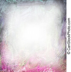 gyönyörű, rózsaszínű, bíbor, vízfestmény, háttér, lágy