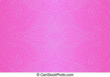 gyönyörű, rózsaszínű, művészet, lineáris, elvont, háttér