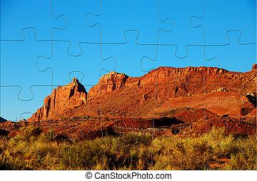 gyönyörű, táj, arizona, szem, határkő, természet, napos, state., day., madár, szárazföld, emlékmű, vad, antenna, völgy, kilátás