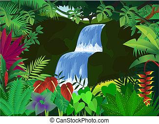 gyönyörű, természet, háttér