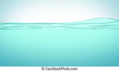 gyönyörű, víz felület, alatt, slowmo